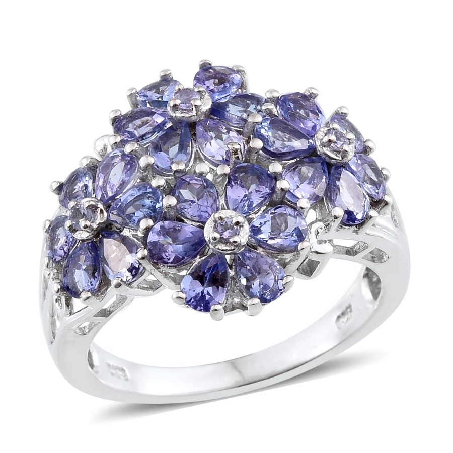 tanzanite platinum over sterling silver ring size 8 0 tgw cts silver jewelry. Black Bedroom Furniture Sets. Home Design Ideas