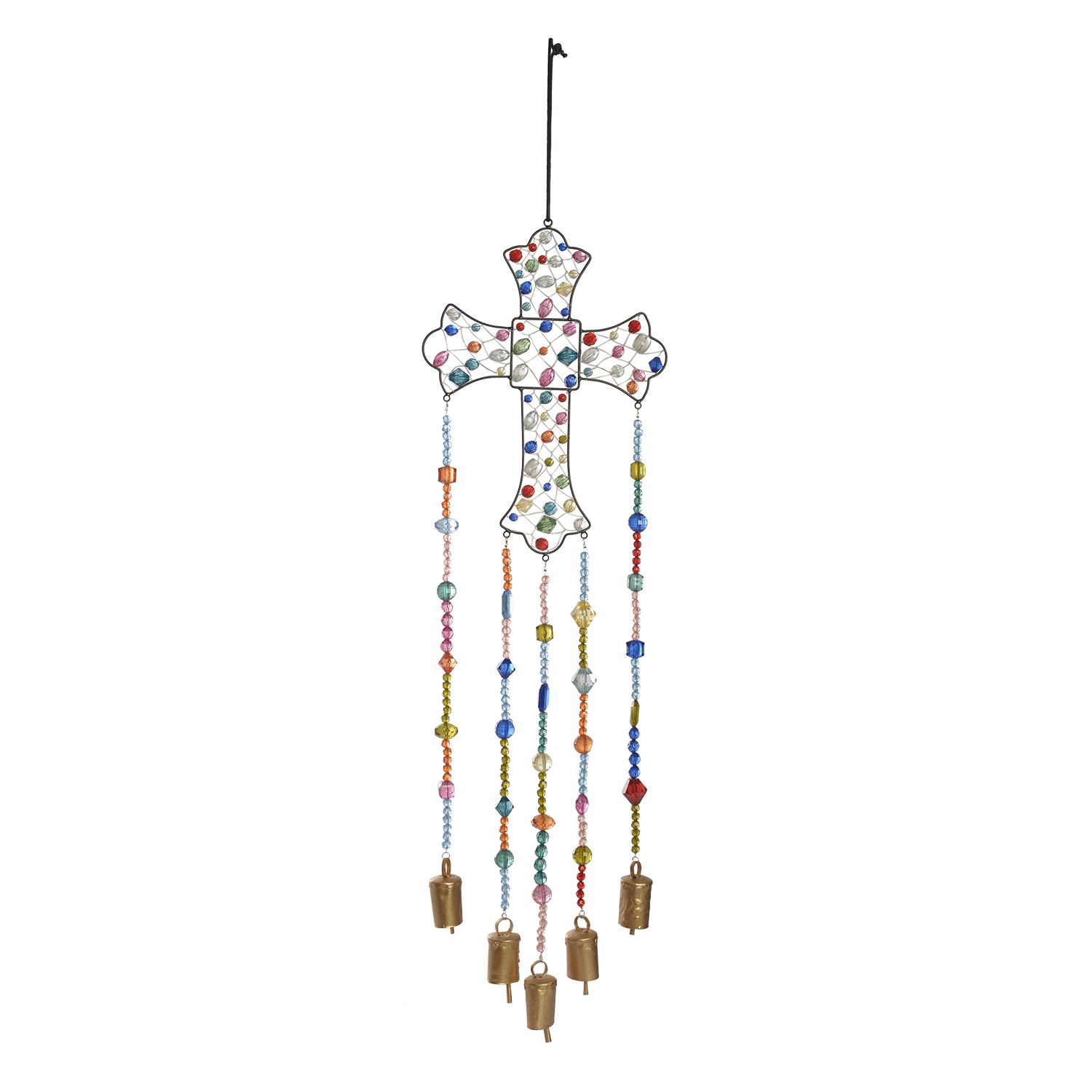 How To Bring Summer Vibes Into Your Home 6 Color Ideas: Multi Color Bead Cross Wire Wind Chime