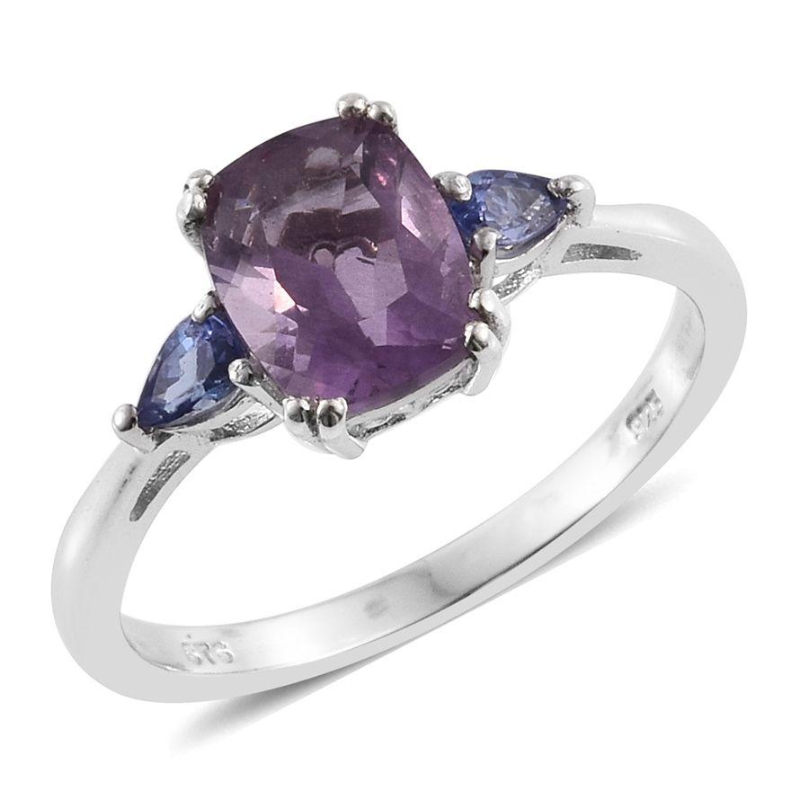 Lavender Tanzanite: Purple Fluorite, Tanzanite Platinum Over Sterling Silver