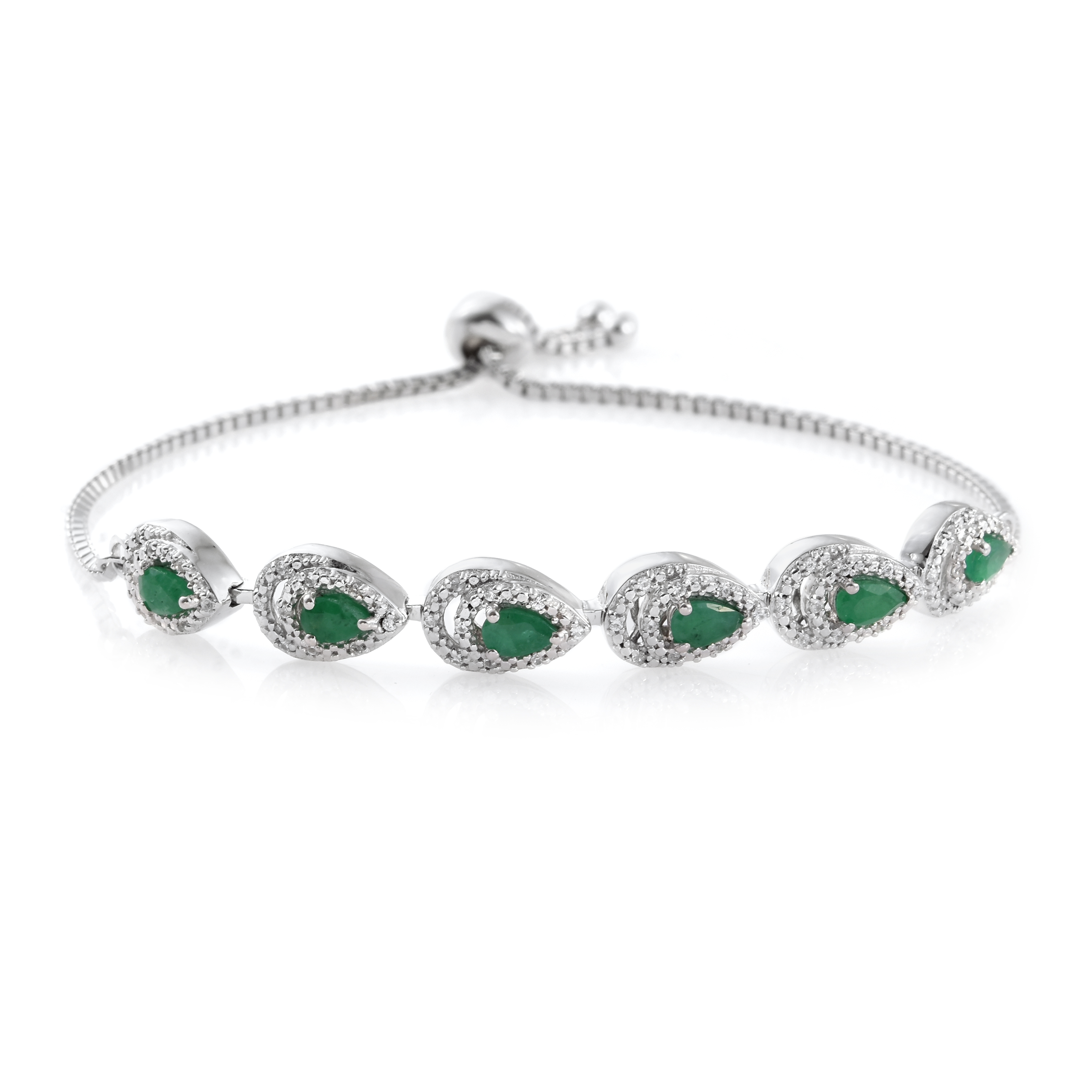 product beaded emerald artcrystal elastic bracelet