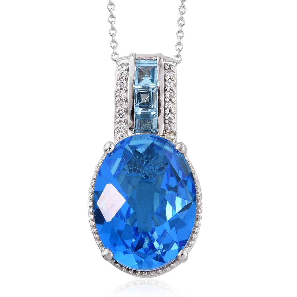caribbean quartz electric blue topaz cambodian zircon