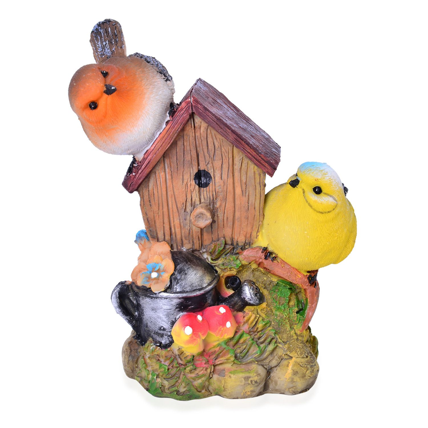 Resin bird couple decoration battery not included for Bird decorations for home