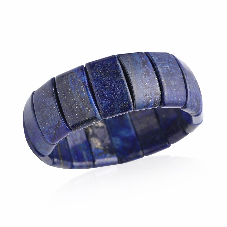 lapis lazuli bracelet stretchable in tgw. Black Bedroom Furniture Sets. Home Design Ideas