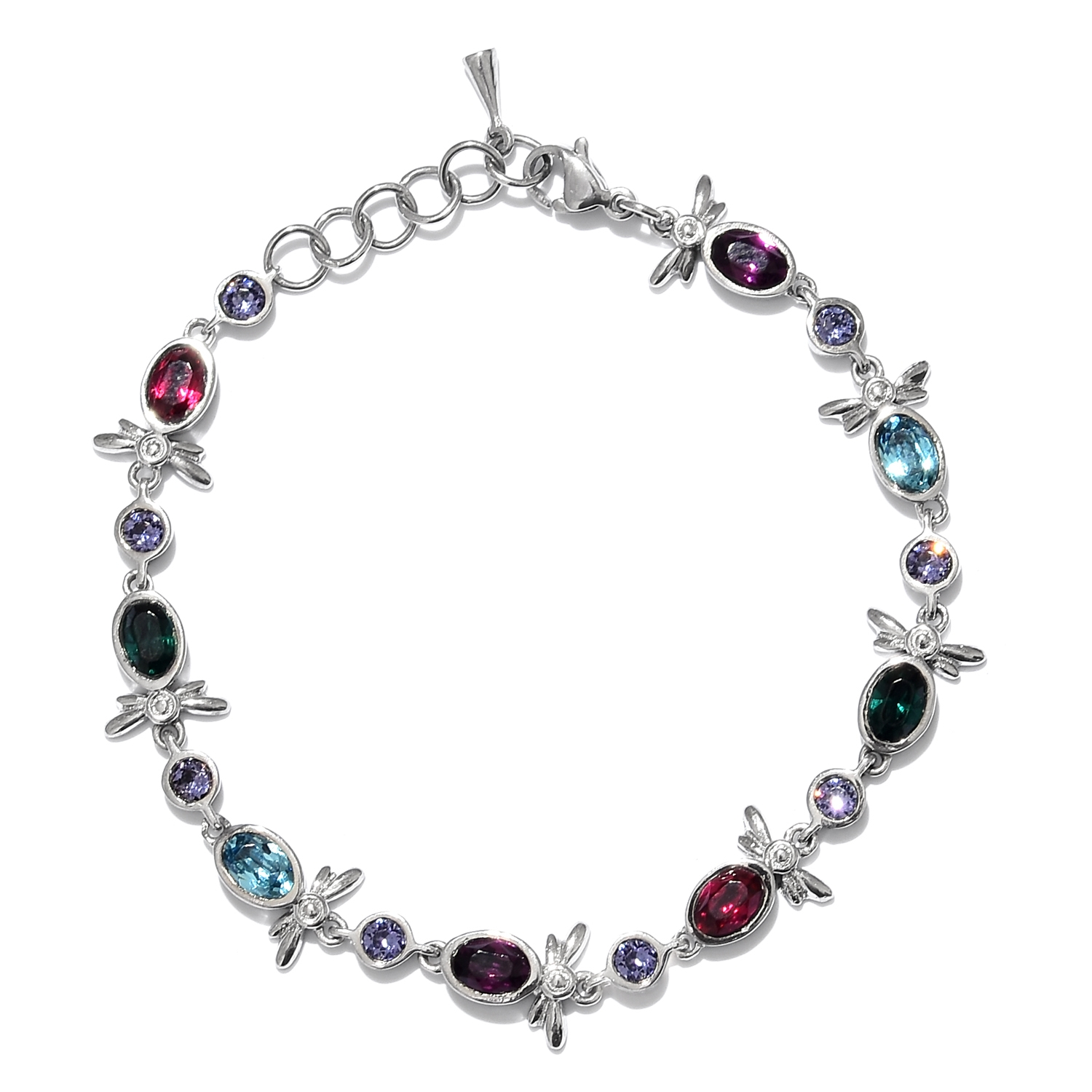 Stainless steel dragonfly bracelet in made with for Swarovski jewelry online store