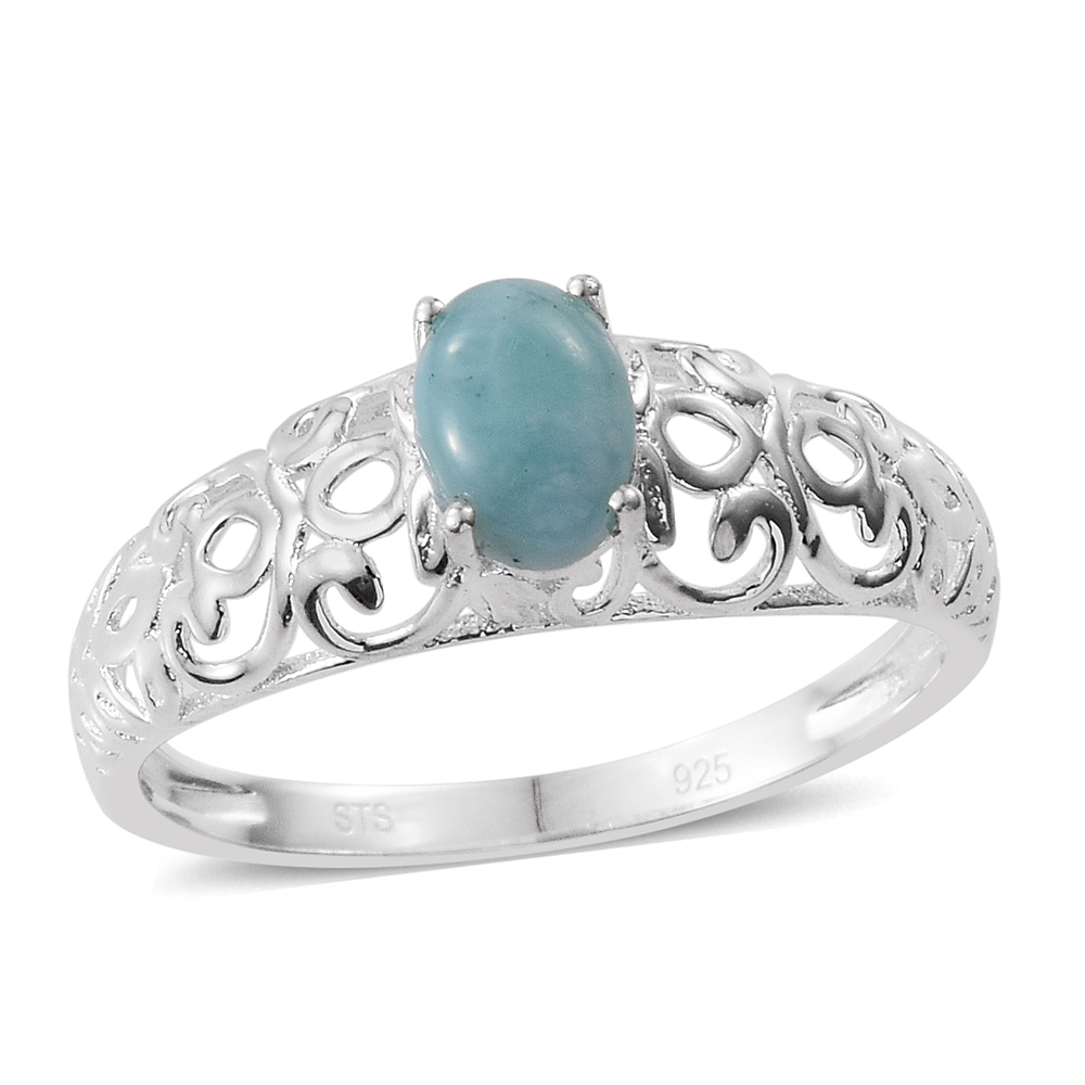 474c35cf4 Sea Mist Larimar Sterling Silver Solitaire Ring (Size 8.0) TGW 1.00 cts. |  Fashion | Rings | Jewelry | online-store | Shop LC