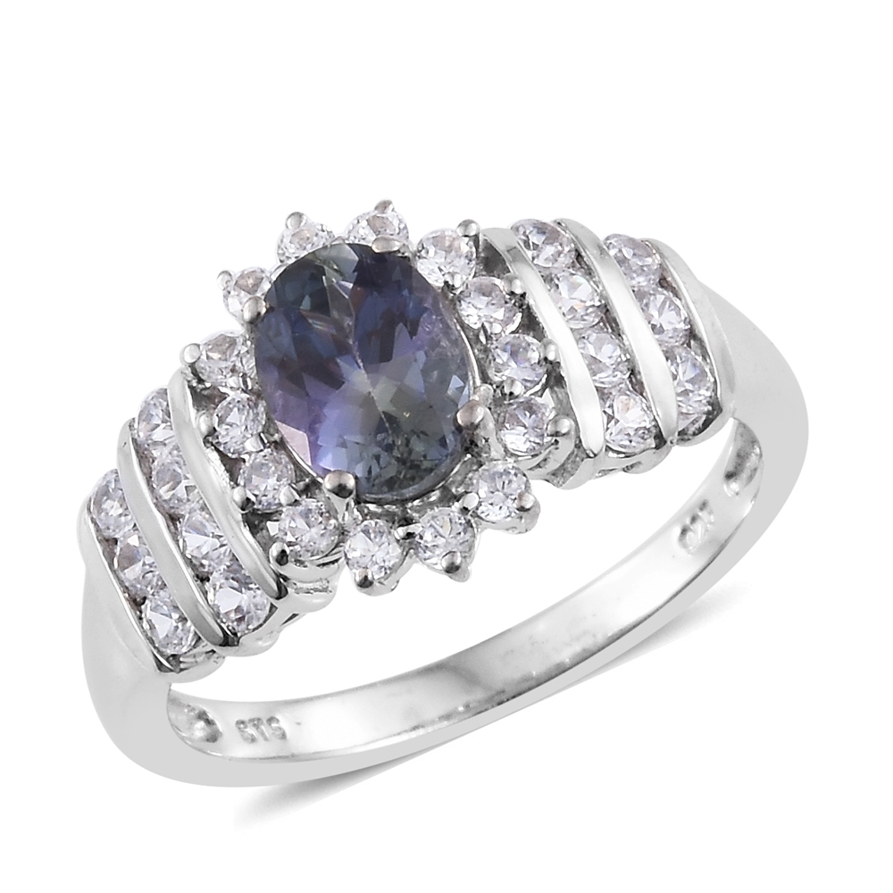tanzanite img diamond collection blue gold rare peacock ring