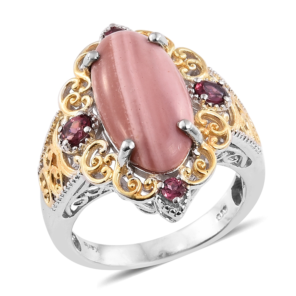 KARIS Collection - Australian Pink Opal, Orissa Rhodolite Garnet ION ...