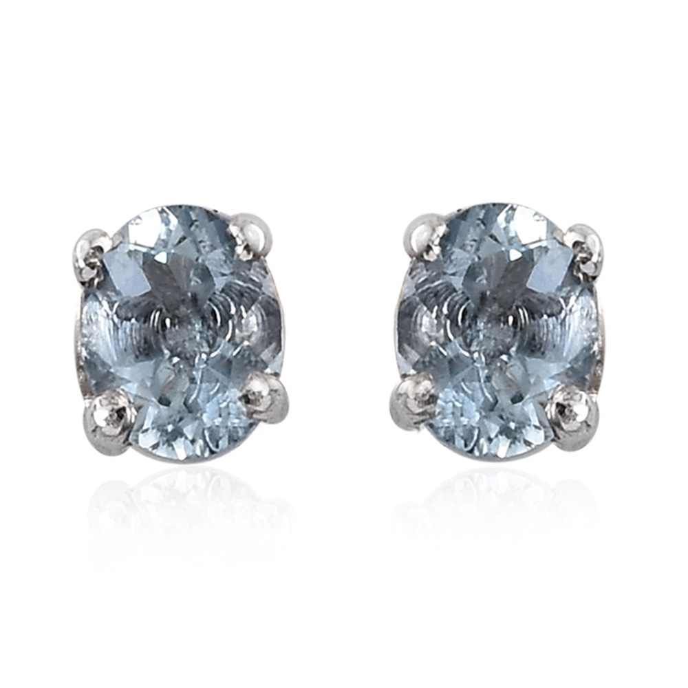 Santa maria aquamarine platinum over sterling silver stud for Santa maria jewelry company