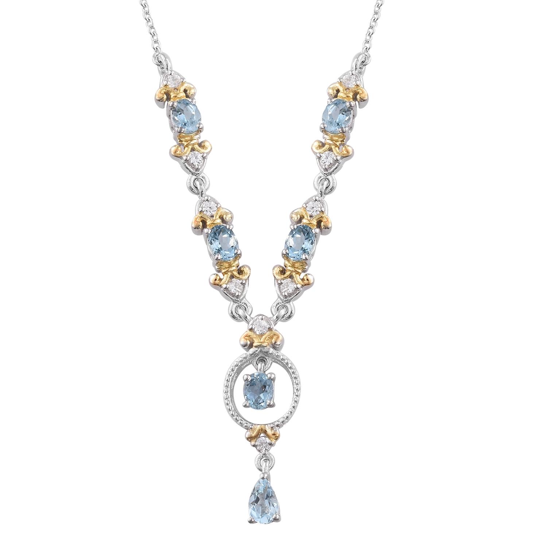 Santa maria aquamarine cambodian zircon 14k yg and for Santa maria jewelry company