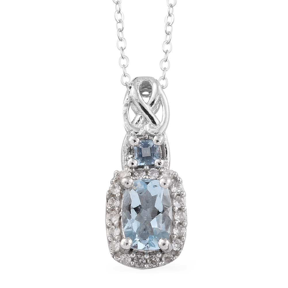 Santa maria aquamarine cambodian zircon platinum over for Santa maria jewelry company