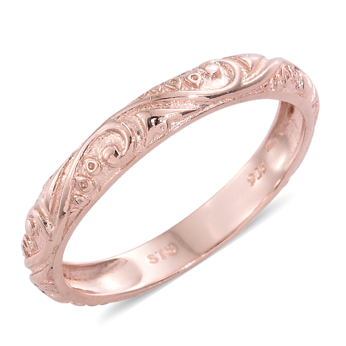 14K RG Over Sterling Silver Ring (Size 10.0) | fashion | rings ...