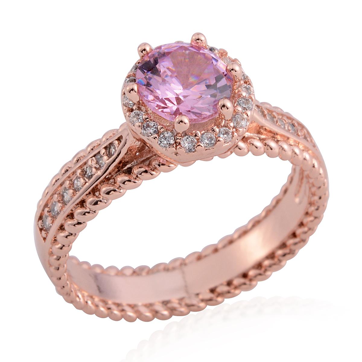 Simulated Pink Diamond, Simulated Diamond ION Plated RG Stainless ...