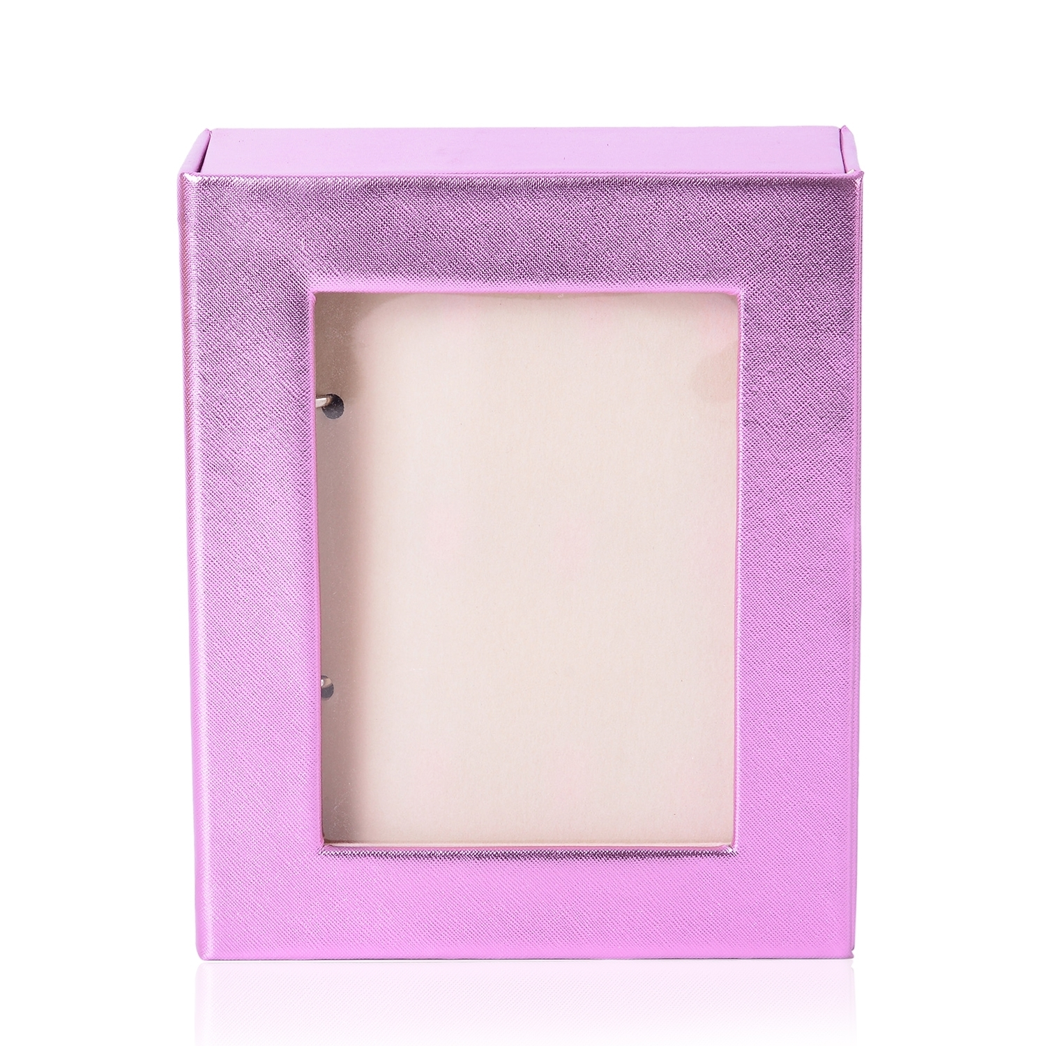metallic pink 4 page transparent jewelry binder booklet with