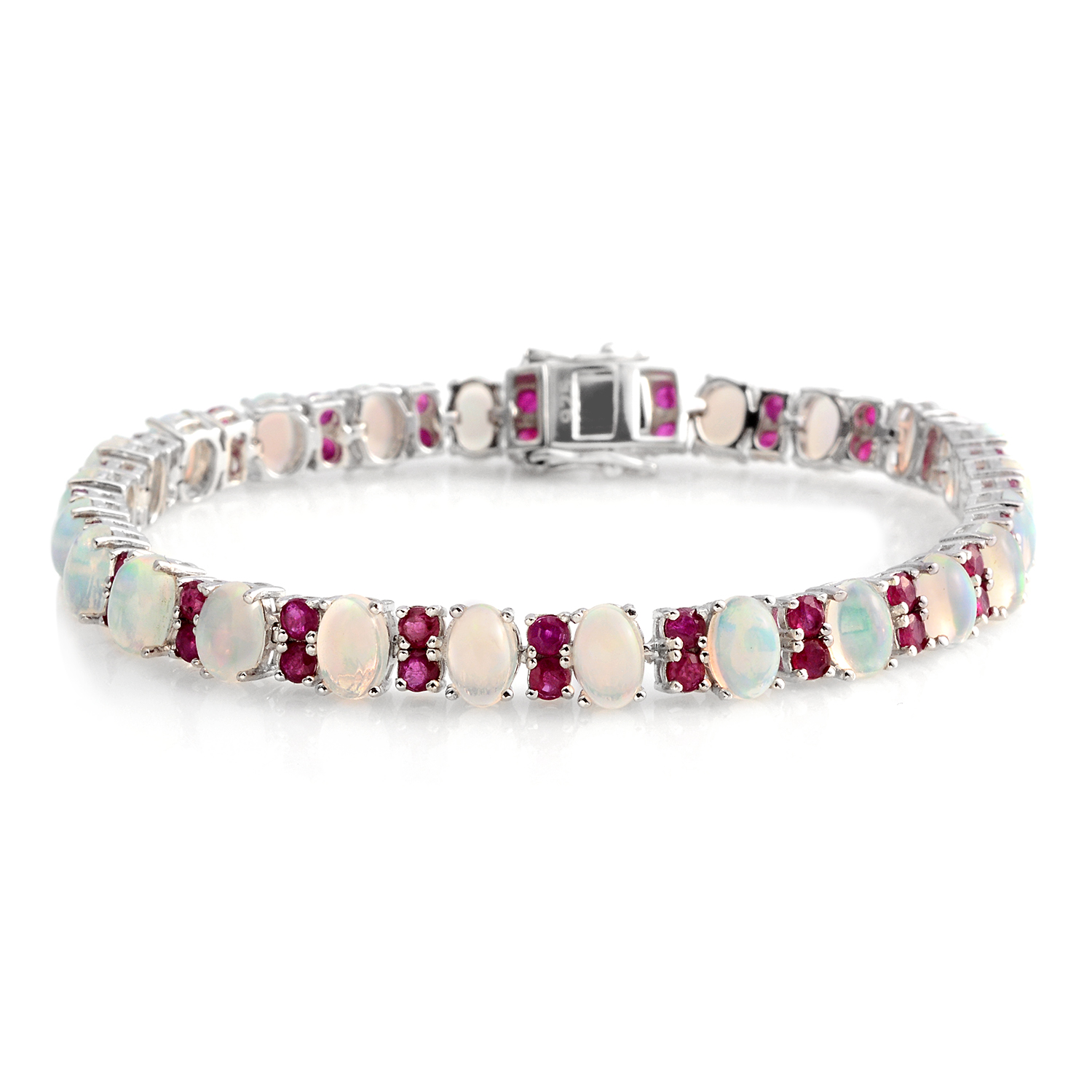 bling bracelet clear cz image tennis jewelry simulated rhodium az real inch ruby responsive color jg itm plated