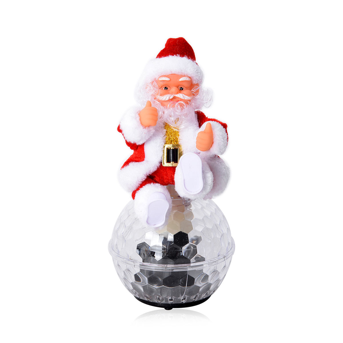 6d30516ea85a0 Dancing Santa Claus LED Disco Ball (4.5x10 in) (Requires 3AA Batteries