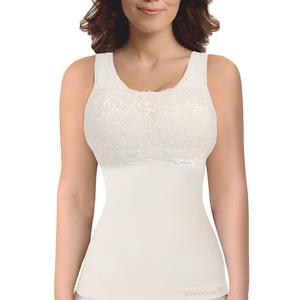 c97deb7023 SANKOM White Classic Slimming   Posture Vest Shaper with Lace Bra (XXXL) ...