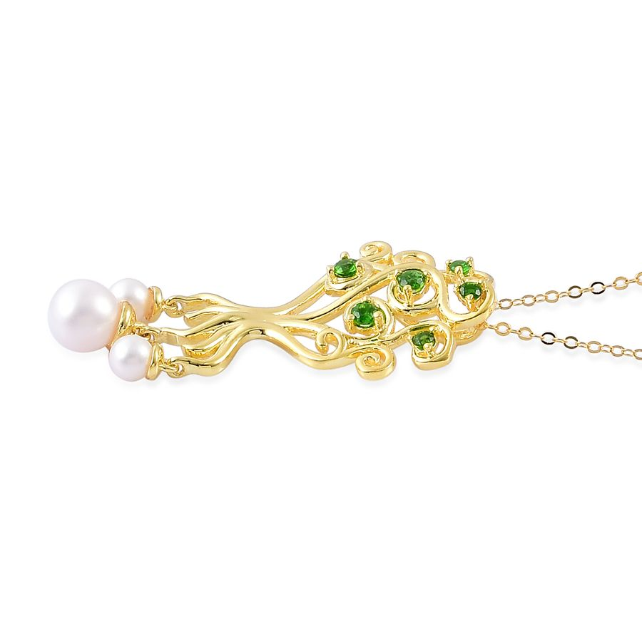pearl expressions freshwater pearl russian diopside 14k