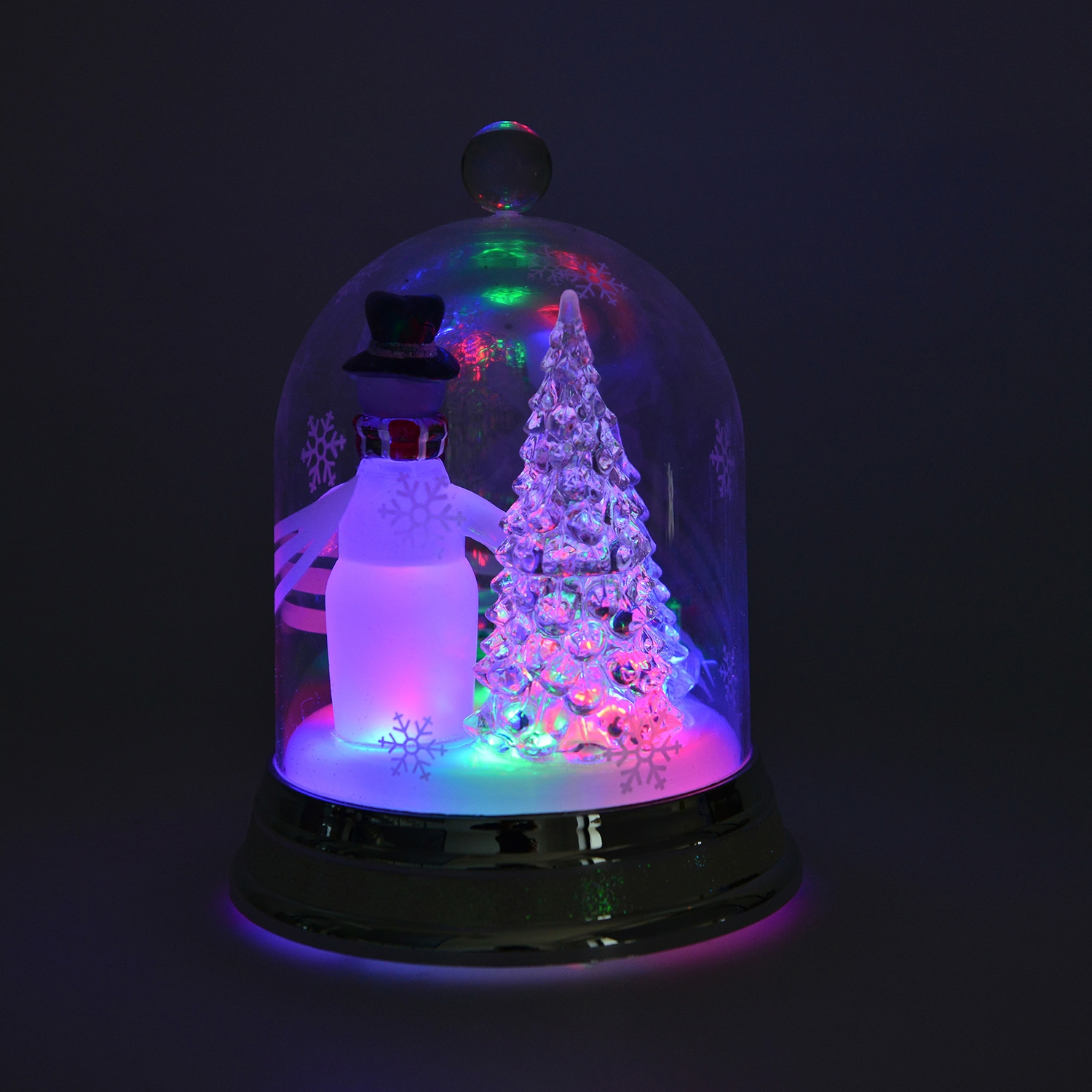 snowman and christmas tree decor with led light one size 3 aaa batteries