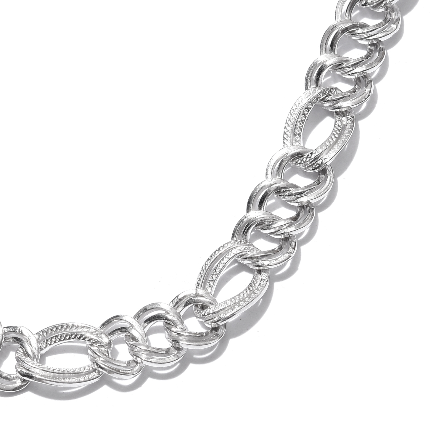 ... Sterling Silver Double Curb Necklace (20 in, 37.5 g) ...