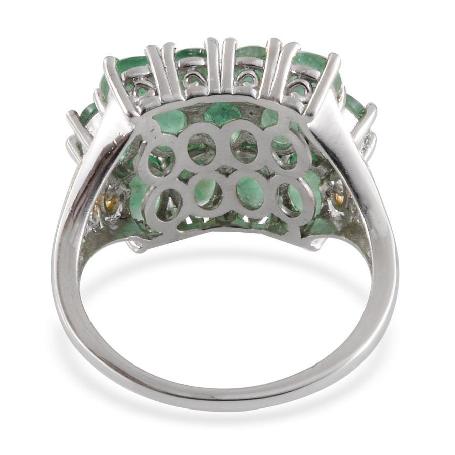 kagem zambian emerald 14k yg and platinum sterling
