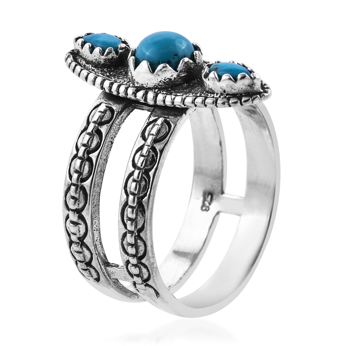 8ee6a9f355bdd5 ... Bali Legacy Collection Arizona Sleeping Beauty Turquoise Sterling  Silver Split Band Ring (Size 9.0) ...