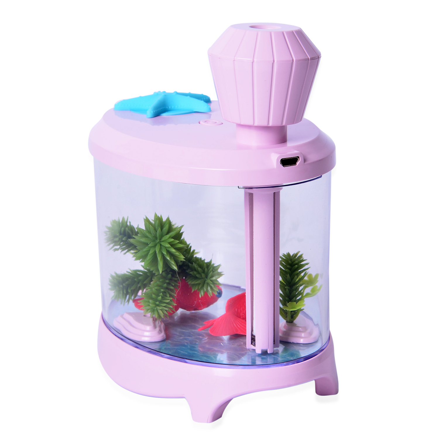 Pink humidifier fish tank with light 5x3x5 in home for Pink fish tank