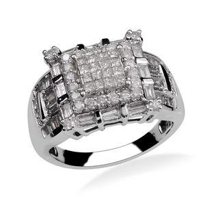 14K WG Diamond (G-H I2) Ring (Size 7.0) TDiaWt 1.75 cts, TGW 1.75 cts.