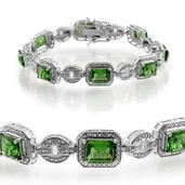 Helenite (Oct) Bracelet in Platinum Overlay Sterling Silver Nickel Free (7.25 in)  (7.50 In) TGW 10.400 cts.