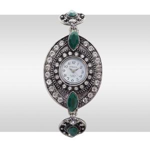 STRADA Green Chroma, Austrian Crystal Japanese Movement Watch With Stainless Steel Back