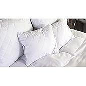 J Francis - Hotel Collection - Set of 2 Aqua Plush Kidney Pillows