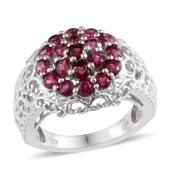 Ouro Fino Rubellite Platinum Over Sterling Silver Ring (Size 6.0) TGW 2.500 cts.