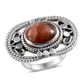 Artisan Crafted Sri Lankan Sunstone Sterling Silver Ring (Size 7.0) TGW 6.970 cts.
