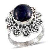Artisan Crafted Sodalite (Ovl) Ring in Sterling Silver Nickel Free (Size 8) TGW 4.67 Cts.