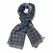 Navy Blue 100% Viscose Scarf (70x26 in)