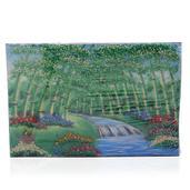 Bamboo Emerald, Sapphire, Citrine and Multi Gemstone Artwork (12x8 in)