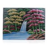 Multi Gemstone Single Waterfall Artwork (16x12 in)