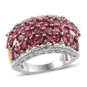 Mahenge Spinel, Diamond Platinum Over Sterling Silver Ring (Size 9) TDiaWt 0.03 cts, TGW 4.730 cts.