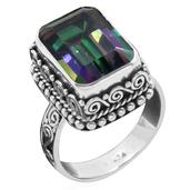 Bali Legacy Collection Northern Lights Mystic Topaz Sterling Silver Ring (Size 9.0) TGW 9.140 cts.
