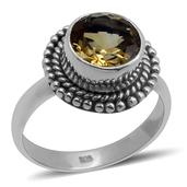 Bali Legacy Collection Brazilian Citrine Sterling Silver Ring (Size 9.0) TGW 1.740 cts.
