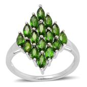 Russian Diopside Sterling Silver Ring (Size 8.0) TGW 3.100 cts.