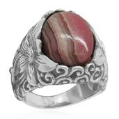 Bali Legacy Collection Argentinian Rhodochrosite (Ovl) Ring in Sterling Silver Nickel Free (Size 8) TGW 11.34 Cts.