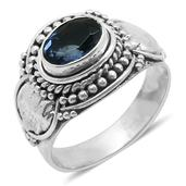 Bali Legacy Collection Color Change Fluorite (Ovl) Ring in Sterling Silver Nickel Free (Size 6) TGW 1.360 cts.