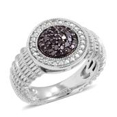 Black Diamond (IR) Sterling Silver Ring (Size 5.0) TDiaWt 1.00 cts, TGW 1.00 cts.