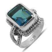 Bali Legacy Collection London Blue Topaz Sterling Silver Ring (Size 8.0) TGW 8.960 cts.