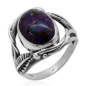 Bali Legacy Collection Mojave Purple Turquoise Sterling Silver Ring (Size 9.0) TGW 5.830 cts.