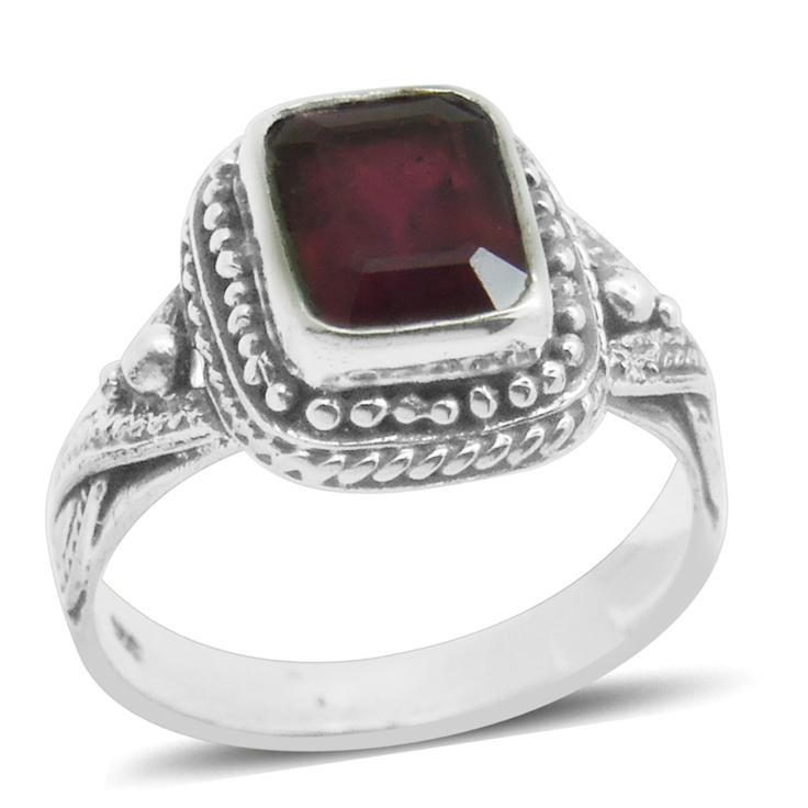 Bali Legacy Collection Niassa Ruby Sterling Silver Ring (Size 6.0) TGW 3.420 cts.