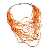 Orange Seed Bead 18 Lines Cassandra Necklace