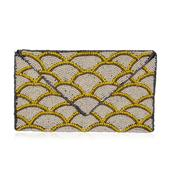 Seed Beads Envelope Clutch Bag