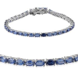 Himalayan Kyanite Platinum Over Sterling Silver Bracelet (7.50 In) TGW 12.950 cts.