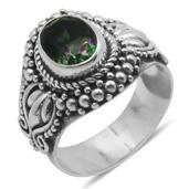 Bali Legacy Collection Northern Lights Mystic Topaz (Ovl) Ring in Sterling Silver Nickel Free (Size 6) TGW 1.43 Cts.